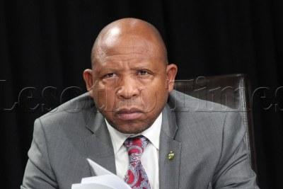 Prime Minister Moeketsi Majoro (file photo).