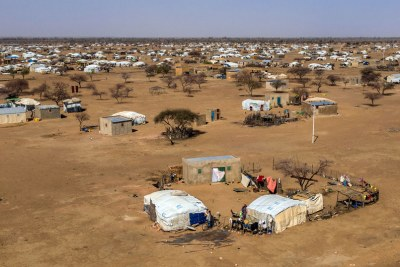 Refugees and displaced people living in camps in Burkina Faso.
