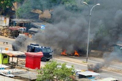 Violence électorale à Abidjan, la capitale de la Côte d'Ivoire, en 2011.