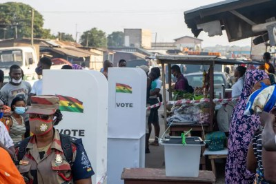 Voting was calm in Nima, an opposition-friendly Accra district, in the presidential and legislative elections on Monday, December 7 in Ghana.