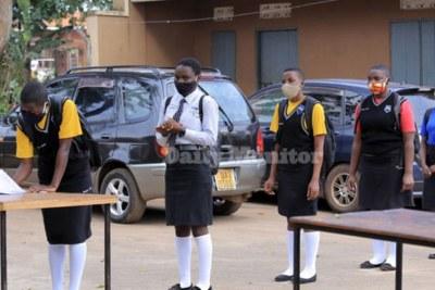 Ugandan students report to school (file photo).