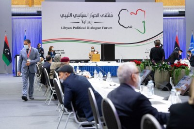Participants in the German forum on Libya.