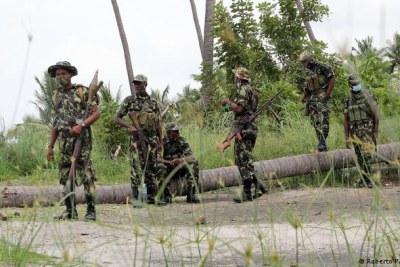 Les troupes mozambicaines combattent des militants à Cabo Delgado depuis 2017.