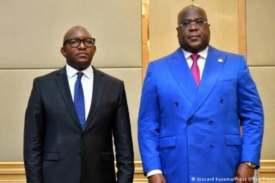 Le Premier ministre Jean-Michel Sama Lukonde et le président de la RDC Félic Antoine Tshisekedi