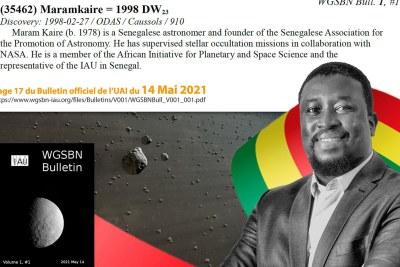 Maram Kaire, premier Sénégalais dont un astéroïde porte le nom