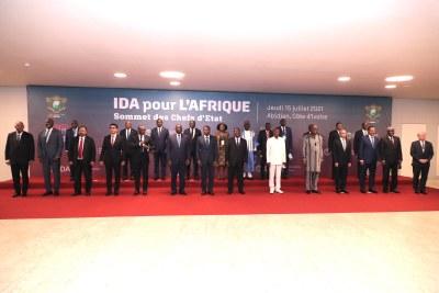 Le Président de la République, @AOuattara_PRCI, a présidé, ce jeudi 15 juillet 2021, au Sofitel - Abidjan Hôtel Ivoire, la cérémonie d'ouverture de la réunion de plaidoyer de la 20e reconstitution des ressources de l'Association Internationale du Développement #IDA20
