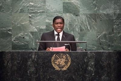 Teodoro Nguema Obiang Mangue, Vice-President de la Guinée équatoriale (2015).
