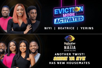 BBNaija - Beatrice, Yerins, Niyi Evicted As Four New Housemates Make Surprise Entry